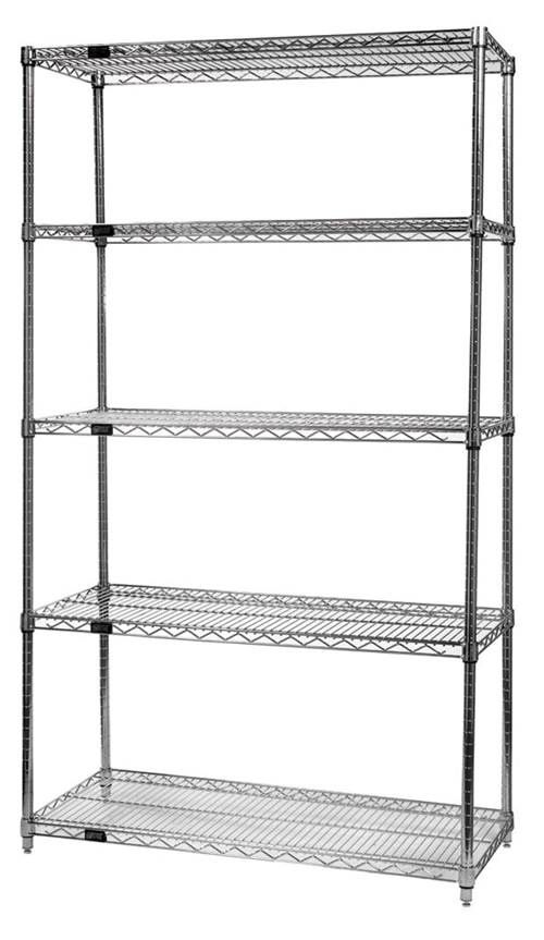 Stainless Steel Wire Shelving from Quantum Storage Systems