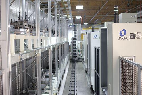 three Makino a61nx horizontal machining centers