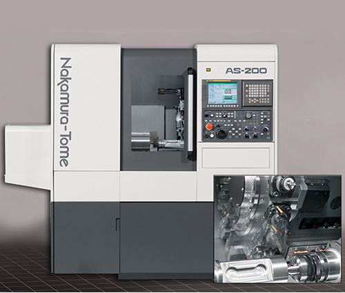 The Nakamura-Tome AS-200 turning center available from Methods Machine Tools is equipped for entry-level multitasking operations with a single spindle and turret that accommodates 24 tools with 12 index positions.