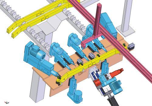 Suhner single-tool Multi-Master flex shaft machining units