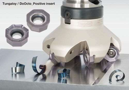 Tungaloy inserts for DoOcto/DoQuad face mills
