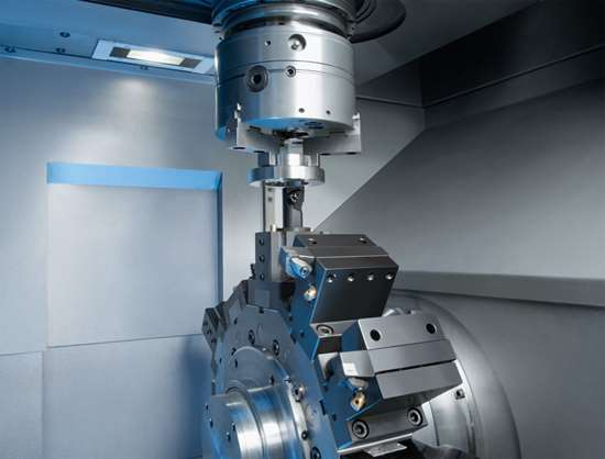 Emag VL series vertical pick-up lathe
