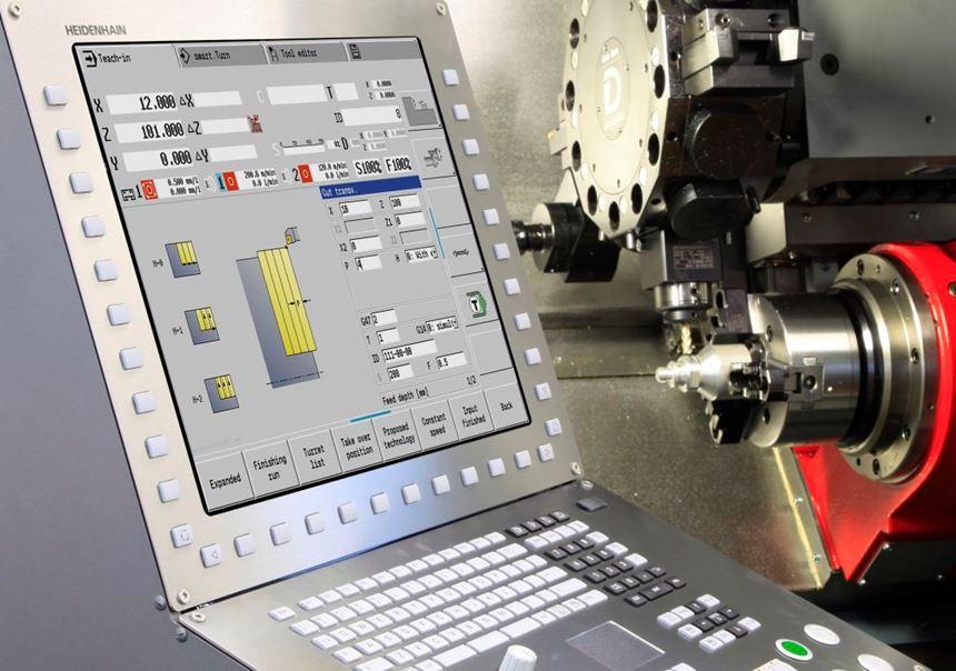 Heidenhain CNC Pilot 640 lathe control