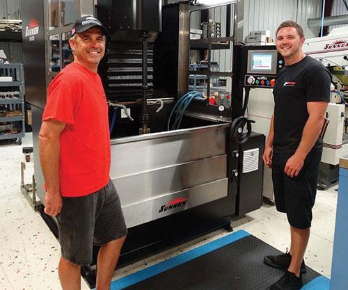 Nick Ferri, Casey Gardner and Sunnen SV-20 honing machine