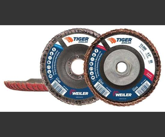 Weiler Abrasives Group Tiger coated flap discs