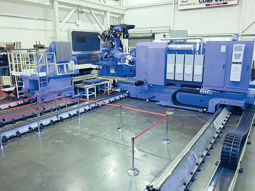 seven-axis BMI Viper fiber-placement machine