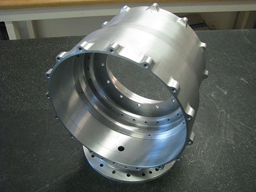 completed aluminum adapter housing