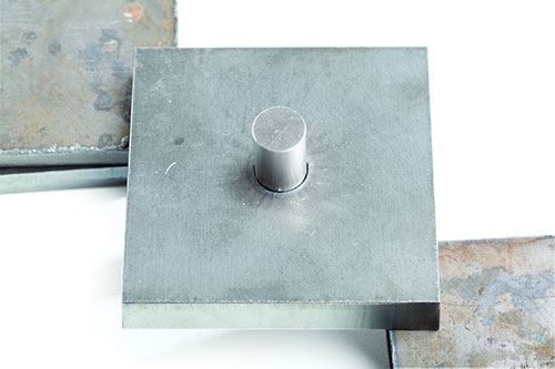 hole cut with Hypertherm's True Hole