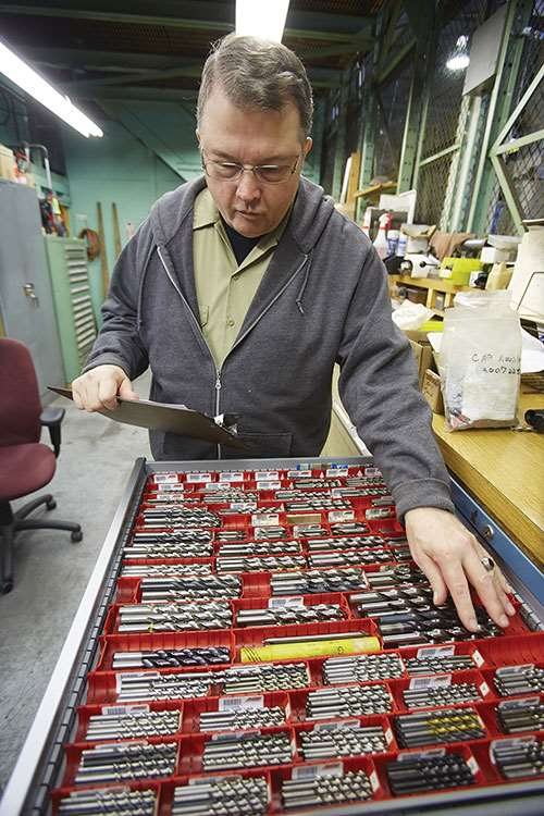 HyPex toolcrib attendant Bill Leibfrid