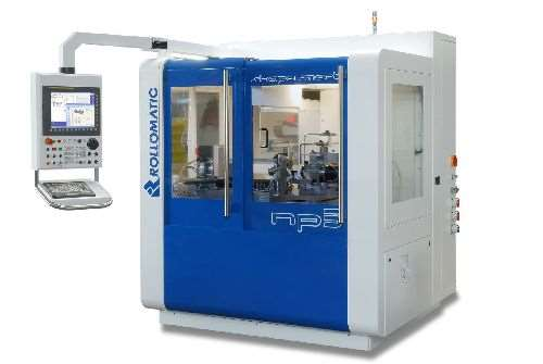Rollomatic ShapeSmart NP5 five-axis pinch and peel grinding machine