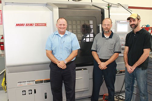 Gurecky employees in front of multifunctional NLX 2500SY/700