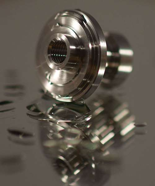 precision machining for a quality hermetic seal on a pressure sensor component
