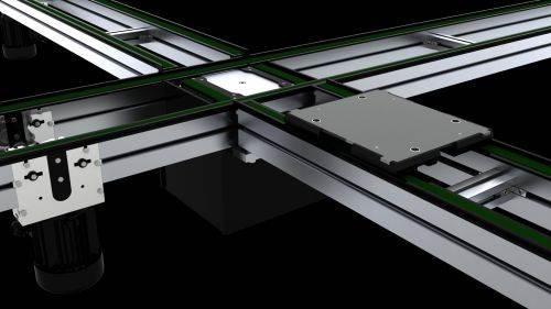 Glide-Line mulit-strant panel and pallet-handling conveyor system