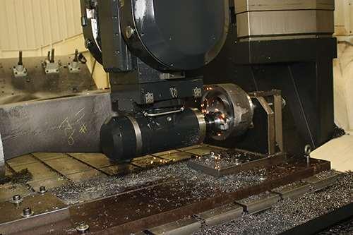 Harrison Steel Castings' Mazak V-100N five-axis double-column machine