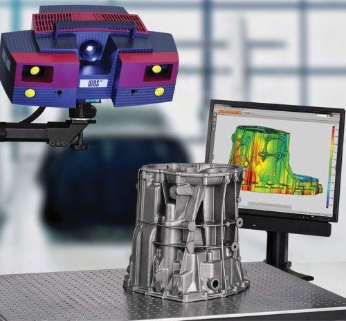 Blue Light Scanner Improves Scanning of Shiny Surfaces
