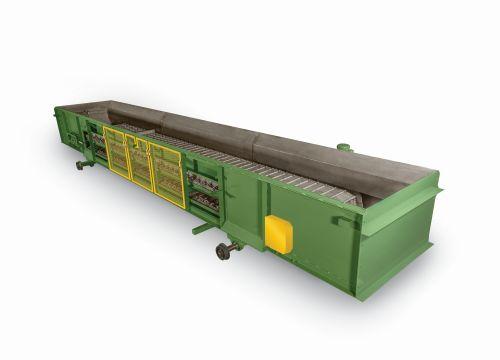 PRAB open-frame steel belt conveyor