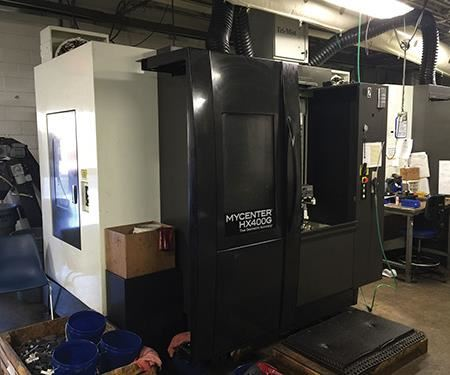 When orders increased for the bolt carrier key, Manufacturing Partners moved into high-volume mode by adding two Kitamura Mycenter-HX400G horizontal machining centers.