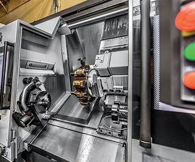 Wolfram has invested heavily in its technology, purchasing an Okuma Multus B400W multitasking machine with a 10,000-rpm, Coromant Capto-equipped spindle, 40-tool magazine, MP Systems 1,000-psi high-pressure coolant pump, inline machine probing and Caron Engineering adaptive feed system.