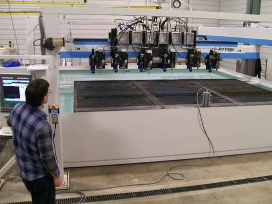 high-rail-gantry waterjet Jet Edge