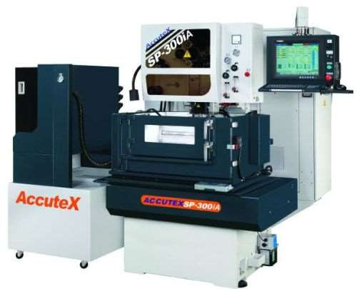 AccuteXEDM, a division of Absolute Machine Tools, offers the SP-300iA five-axis CNC wire EDM