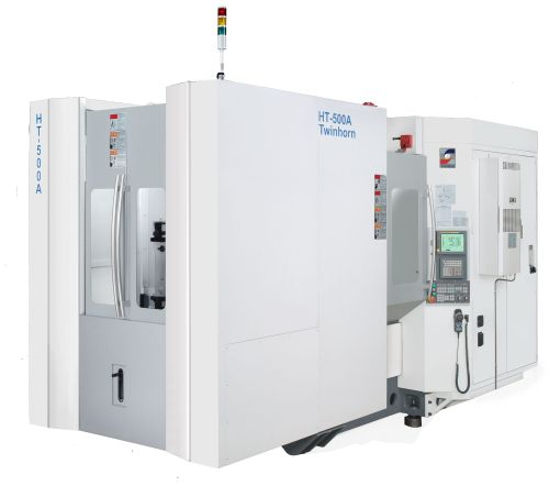 AV-Tech has added the HT-500A and HF-280 series CNC HMCs to the Twinhorn line