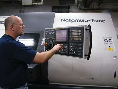 CNC lathe supervisor Brian Fish