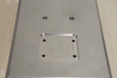 machine large aluminum plate