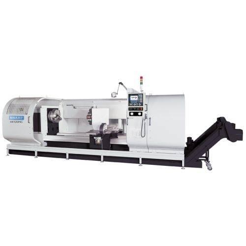 Sharp Industries Big Bore CNC flat-bed lathe