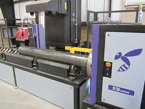 Retro Systems' 1000 pipe-cutting machine