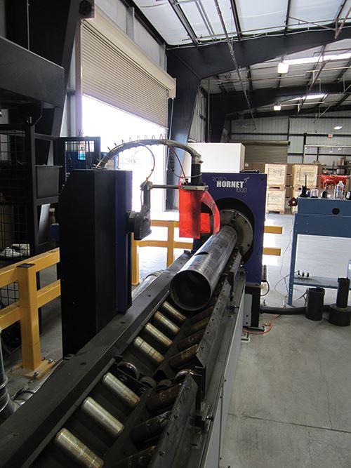 Pneumatic pipe-handling system