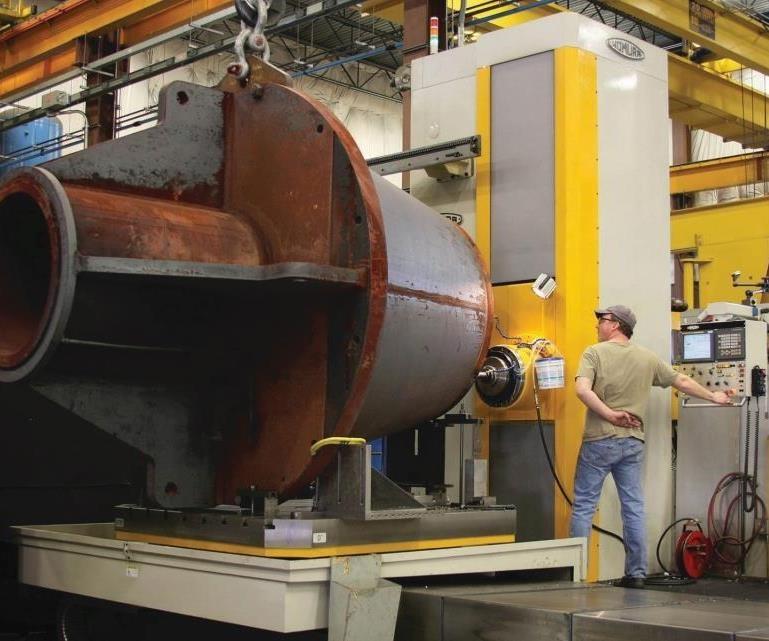 large steel weldment