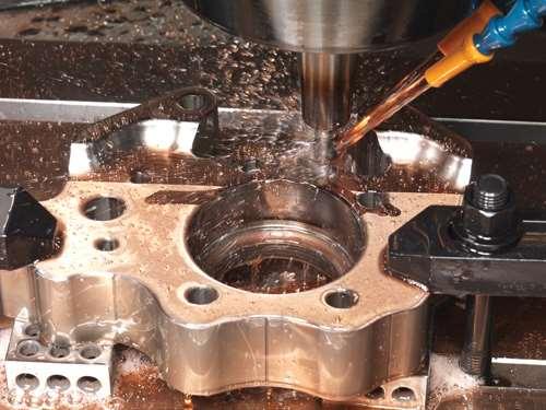 hard milling on the Makino V33i VMC