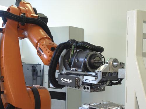 Novator orbital drilling on robot