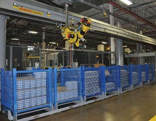 machine-tending robot