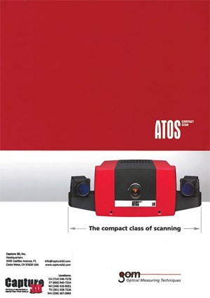 Gom's Atos series industrial optical 3D scanners available from Capture 3D