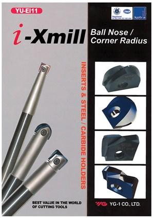 YG-1 i-Xmill ball-nose and corner radius inserts and holders