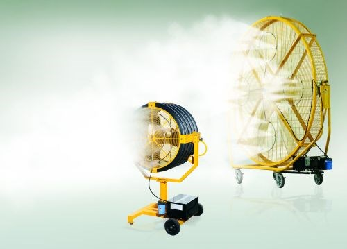 Big Ass Fans portable misting system