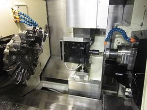 Magnus Precision Manufacturing's Swiss-type lathe