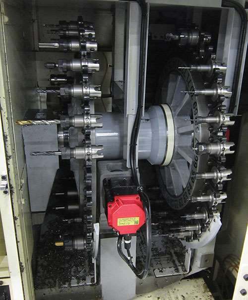 TMU1 machine has an ATC for its B-axis spindle with 60 tool stations