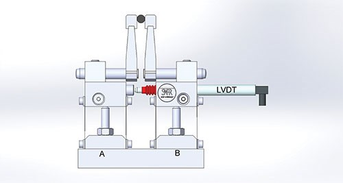 simulation of a mechanical differential check using friction-free panto-transfer units