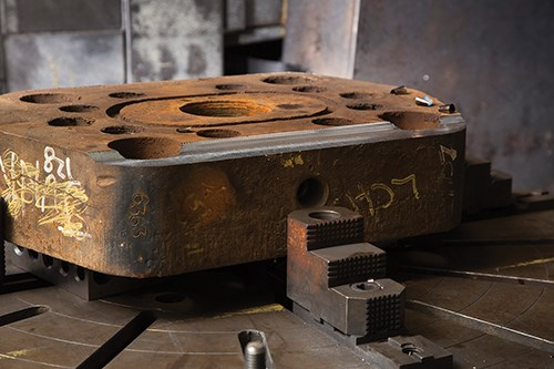 oxide crusts on forgings