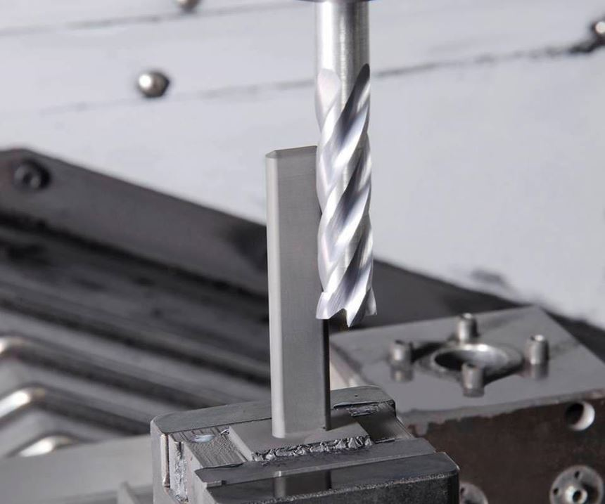 graphite electrode being milled