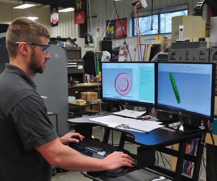 Nick Sluterbeck works with Mastercam