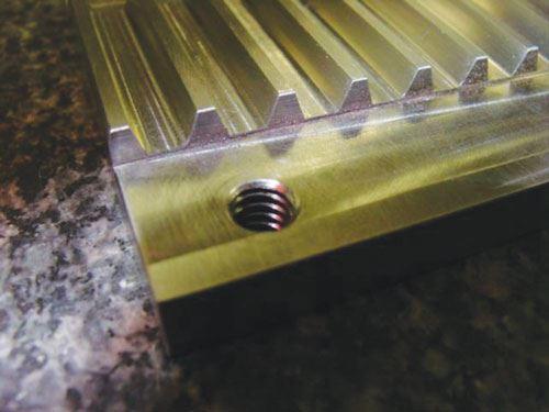 belt lock component close up