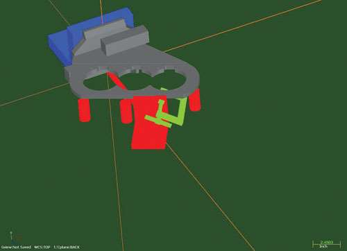 CNC tool path for complex weldment