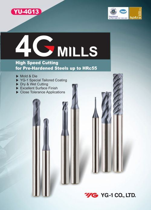 4G high-performance carbide end mill series,