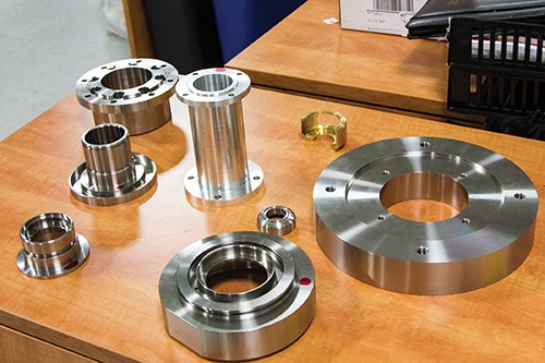 short-run milled parts of stainless steel and aluminum