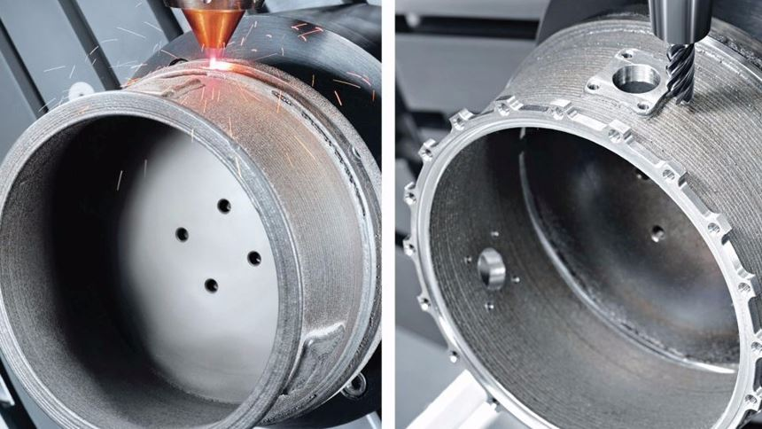 DMG MORI's Lasertec 65 3D mill-turn-based hybrid AM machine