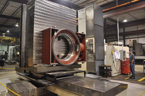 Large rotary table for offshore oil drilling application