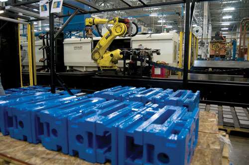 Automated loading of vise bodies
